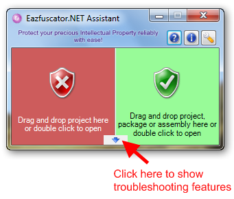 Eazfuscator.NET Assistant floating window