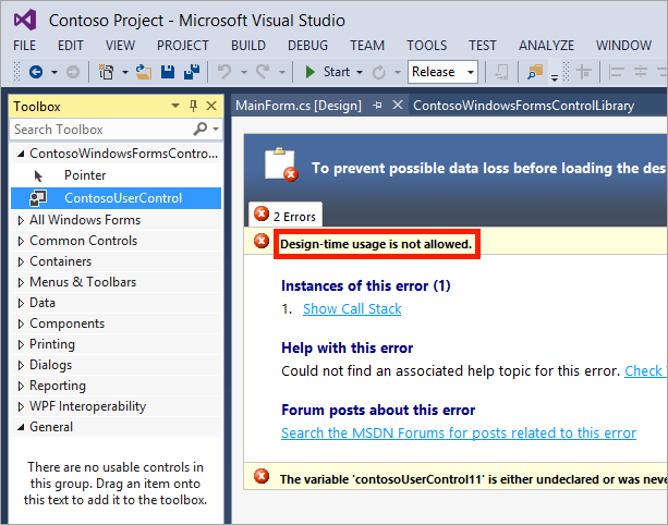 Visual Studio designer after obfuscation with enabled design-time usage protection