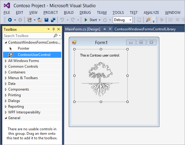 Visual Studio designer before obfuscation with enabled design-time usage protection