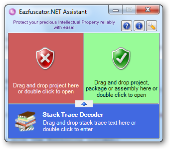 Expanded Eazfuscator.NET Assistant floating window