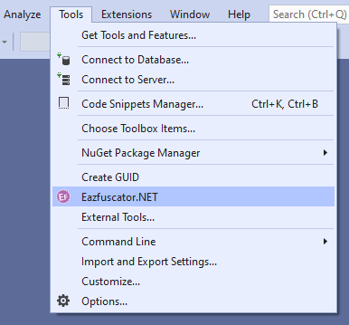 Launching Eazfuscator.NET Assistant from Microsoft Visual Studio